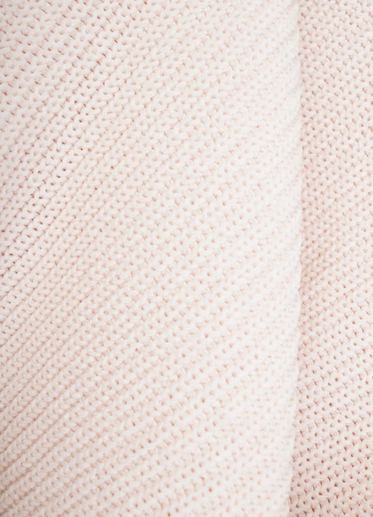 Джемпер структурной вязки из синели