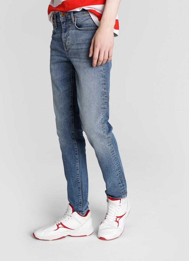 Мужские джинсы O'Stin Узкие джинсы с потёртостями