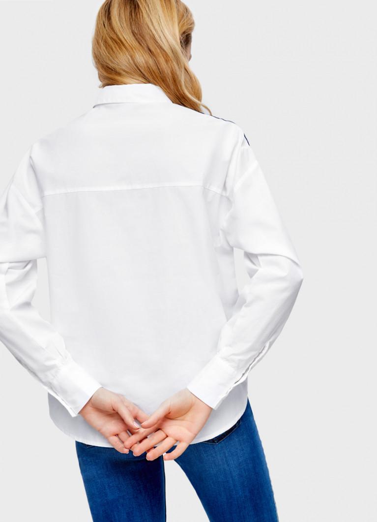 Рубашка с бархатной тесьмой