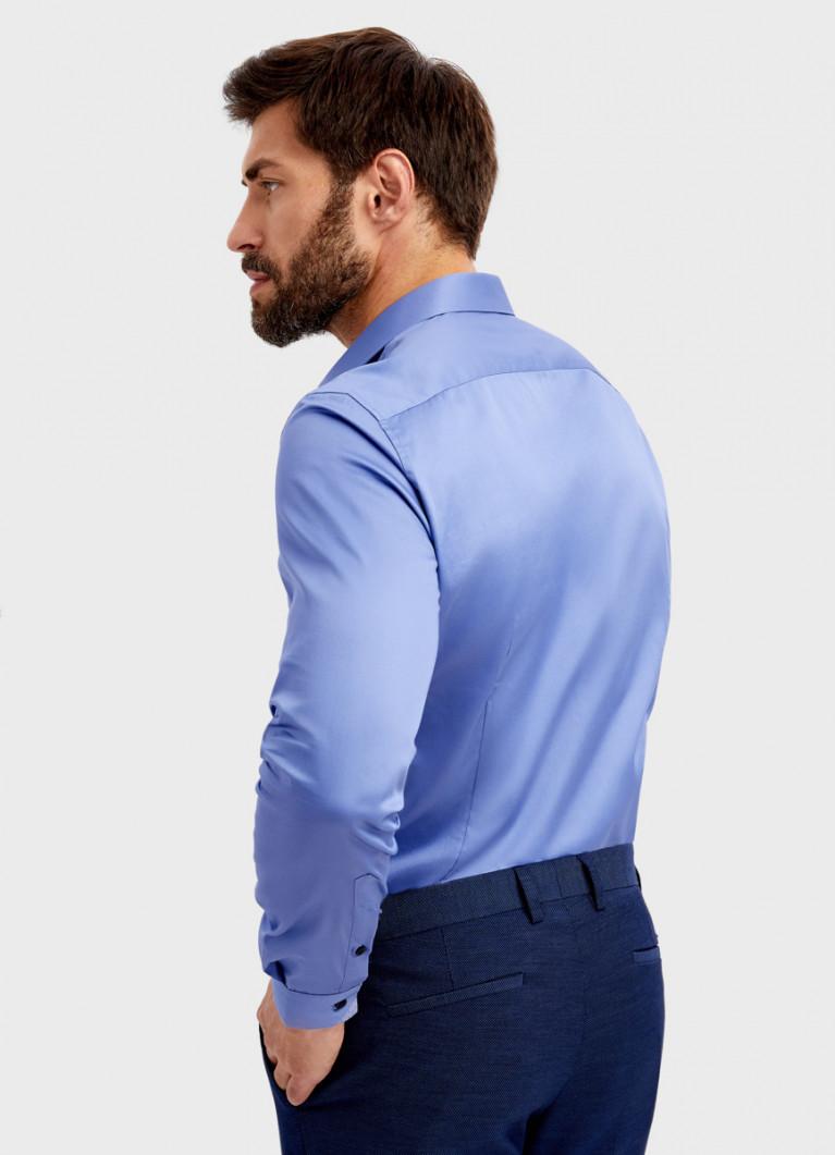Рубашка из однотонного сатина