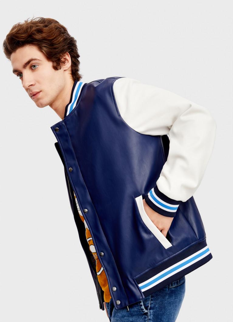 Куртка в стиле «университет» из искусственной кожи