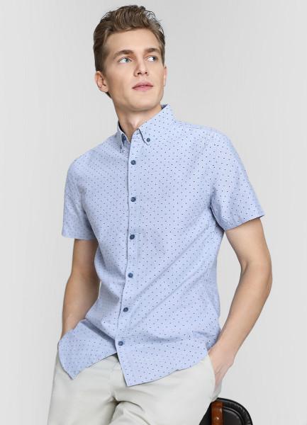 Рубашка из принтованного хлопка Oxford
