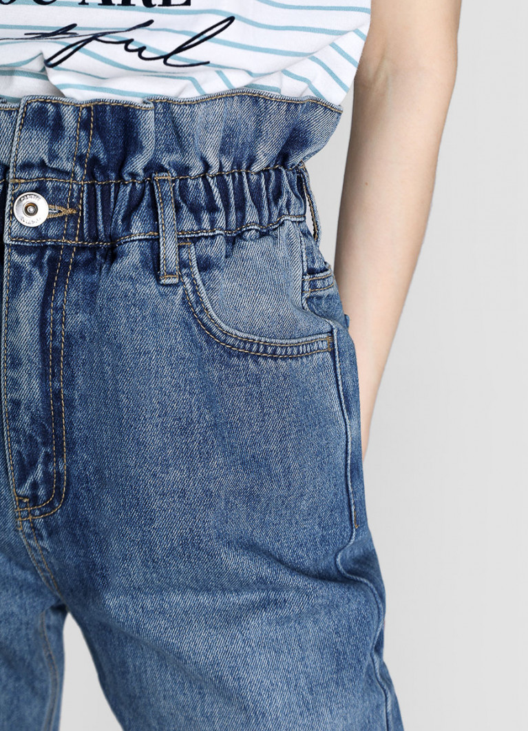 Женские джинсы O'Stin Прямые джинсы с высокой посадкой