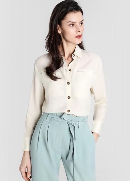 Блузка из тенселя со льном фото