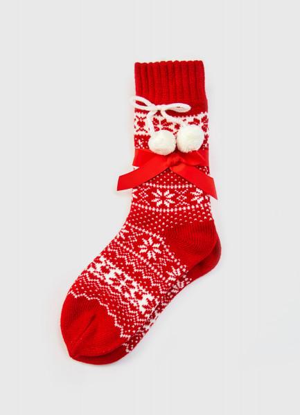 Фото - Носки с новогодним жаккардом носки с жаккардом пицца