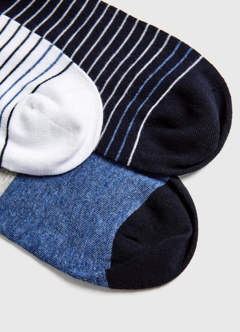 Комплект коротких носков в полоску