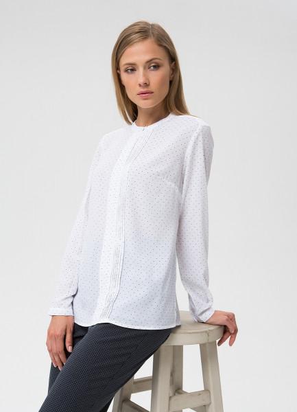 Блузка из принтованного крепа