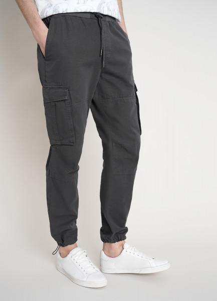 Карго-брюки из хлопка с протяжками