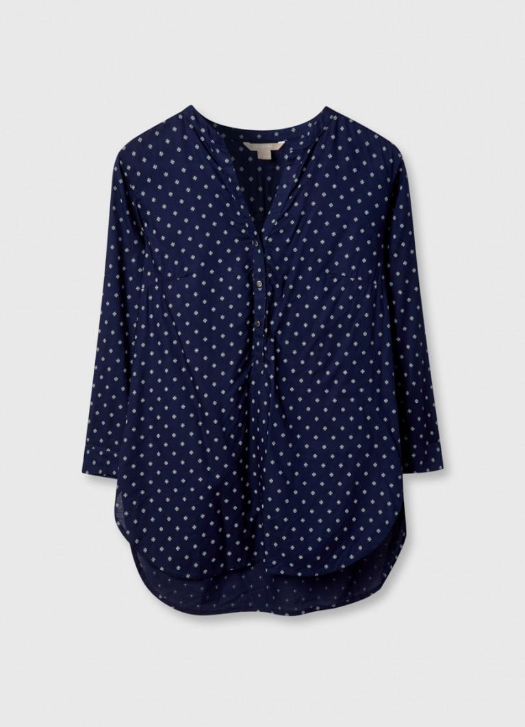 Блузка в мелкий принт