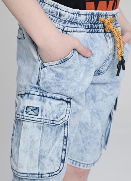 Джинсовые шорты с карго-карманами для мальчиков