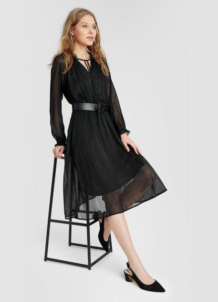Принтованное платье из шифона