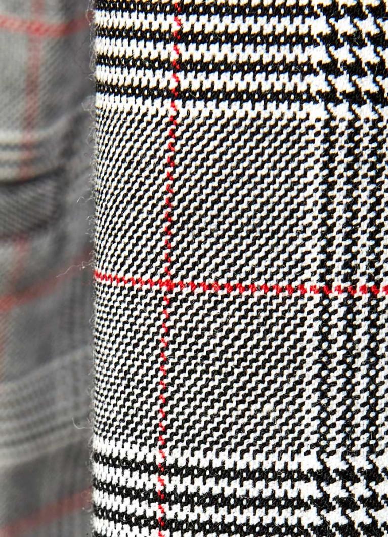 Двубортный пиджак в клетку