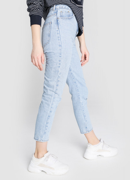 Джинсы Mom прямого кроя джинсы sela sela se001emdqge1