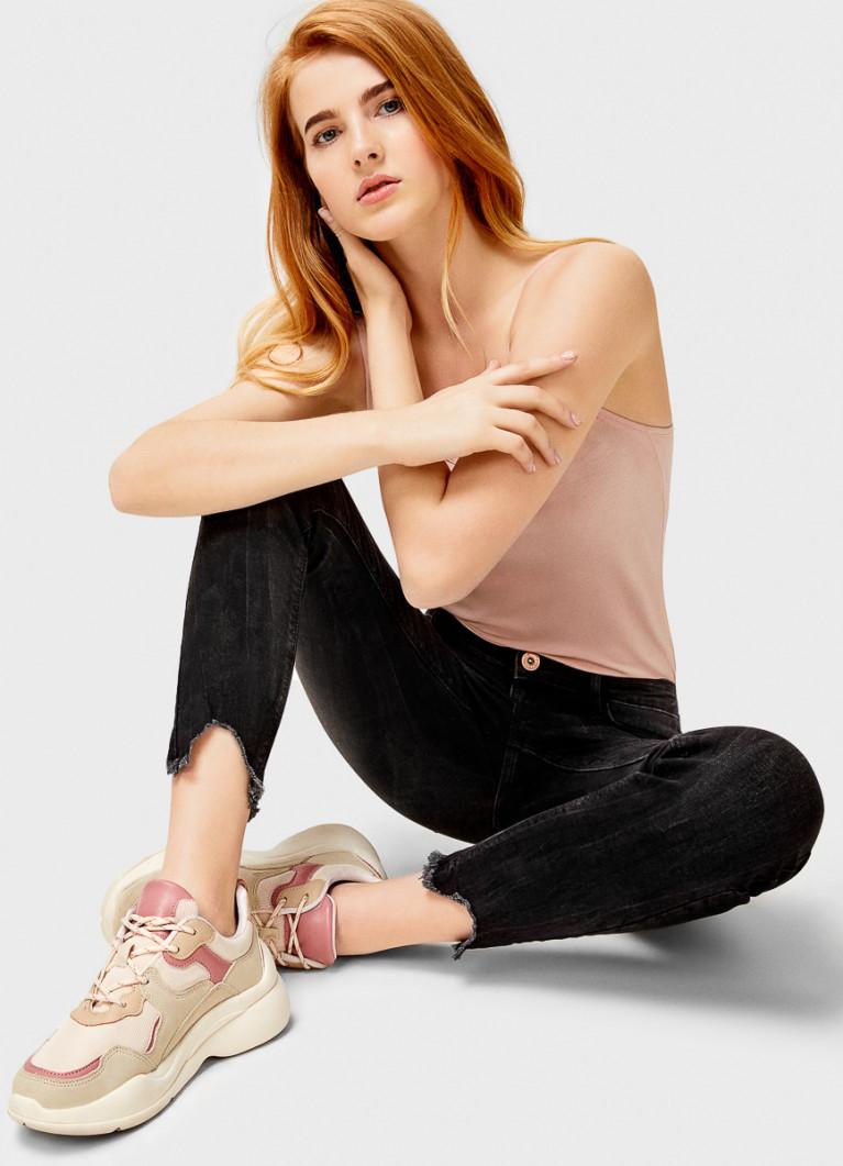 Женские джинсы O'Stin Суперузкие чёрные джинсы