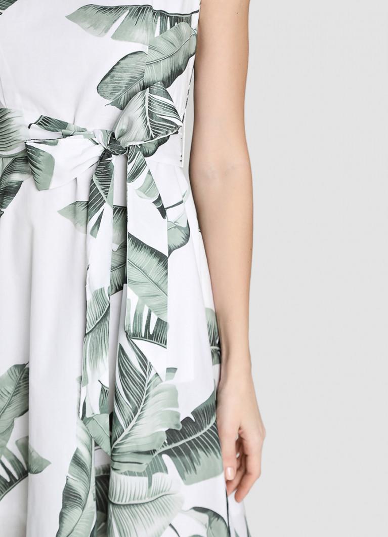 Принтованное платье из хлопка-вуаль