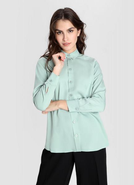 Блузка из тенселя с мягким блеском фото