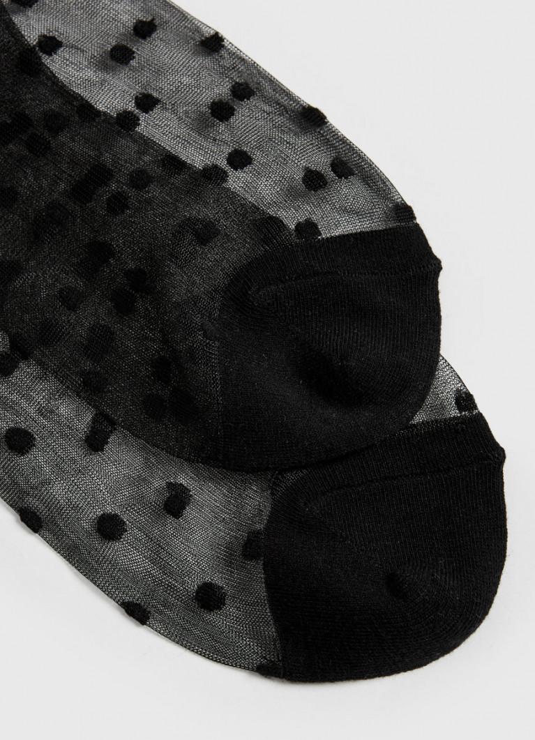 Тонкие носки с жаккардом