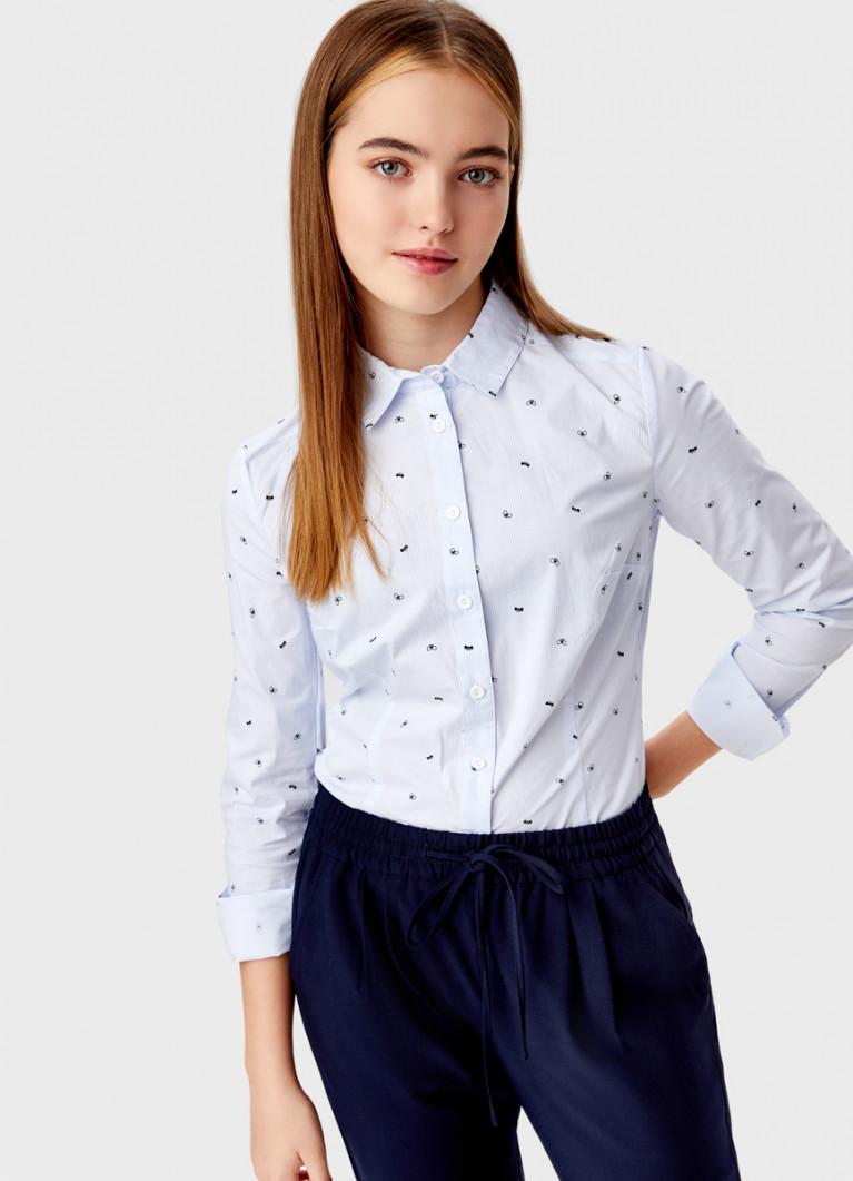 Блузка с мелким принтом