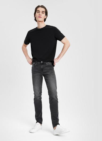 Серые узкие джинсы из переработанного хлопка