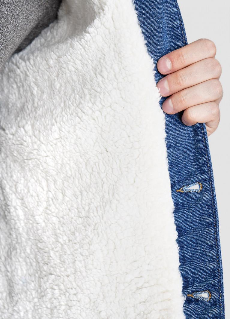 Пиджак O'Stin Денимный жакет с искусственным мехом