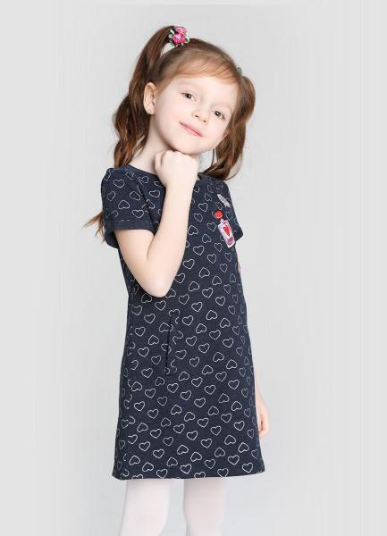 Трикотажное платье для девочек фото