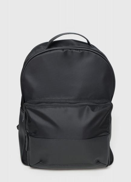 Нейлоновый рюкзак с деталями из искусственной кожи