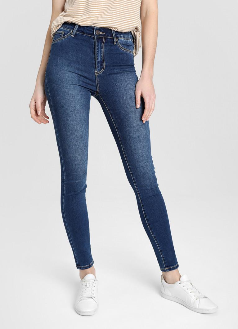 Cуперузкие джинсы с высокой посадкой