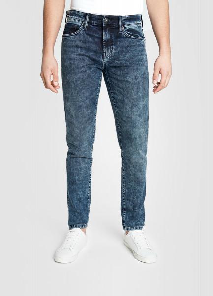 Узкие премиальные джинсы в тёмно-синем цвете
