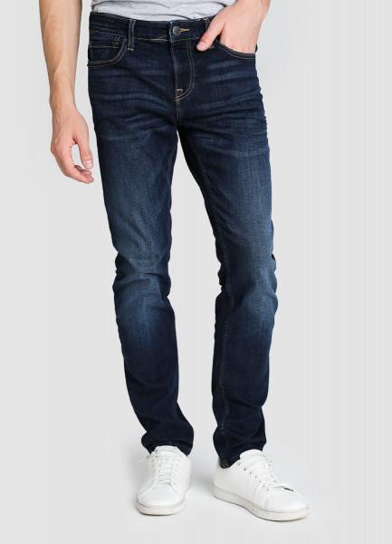 Зауженные джинсы с мягким начёсом