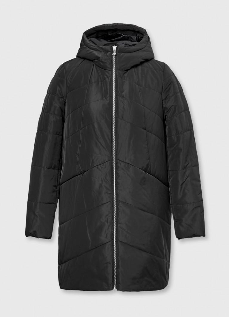 Пальто-кокон с капюшоном