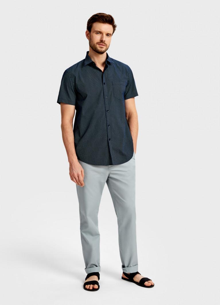 Рубашка с микрогеометрическим принтом