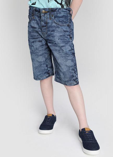 Фото - Джинсовые шорты с камуфляжным принтом для мальчиков please джинсовые шорты