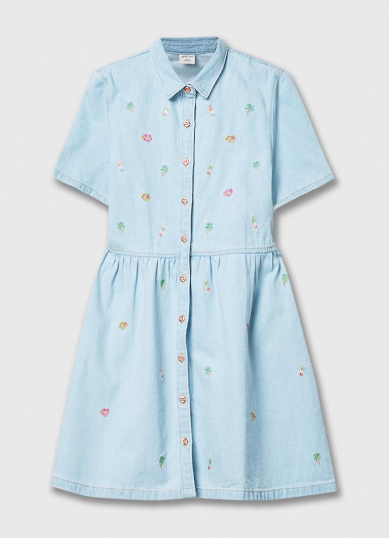 Платье O'Stin Джинсовое платье с вышивкой