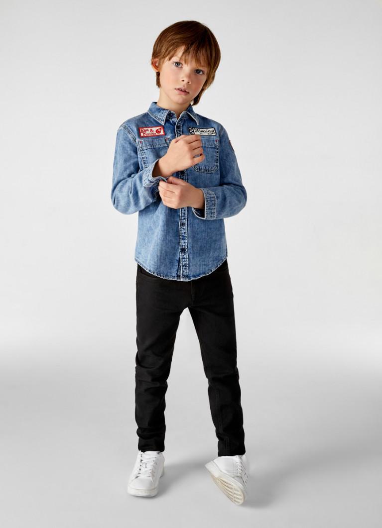 Джинсовая рубашка для мальчиков
