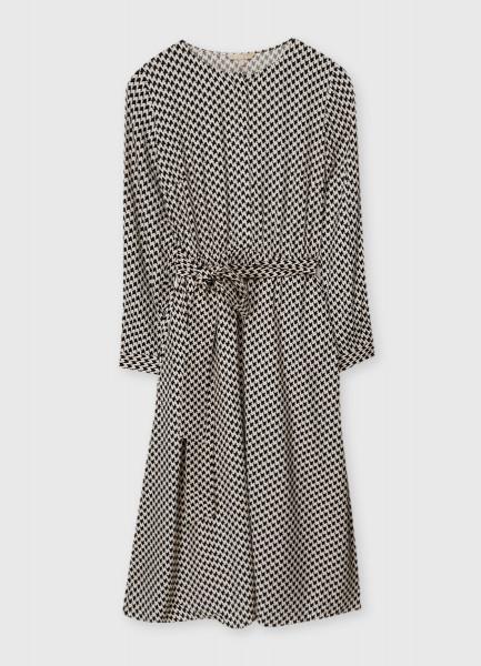 Платье из вискозы с геометрическим принтом