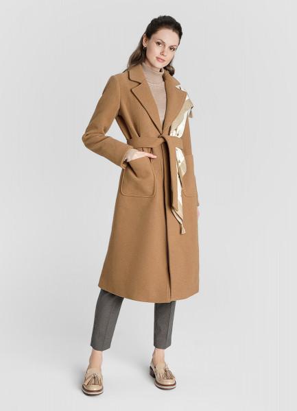 Двубортное пальто с поясом из ткани с шерстью пальто с поясом icon пальто короткие