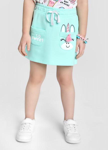 Трикотажная юбка для девочек фото