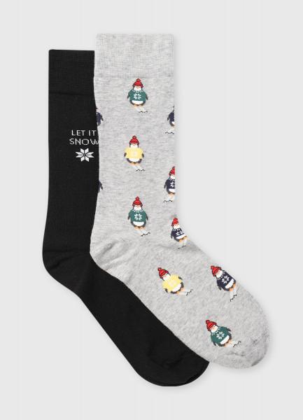 Фото - Носки с жаккардом «пингвины» носки с жаккардом пицца
