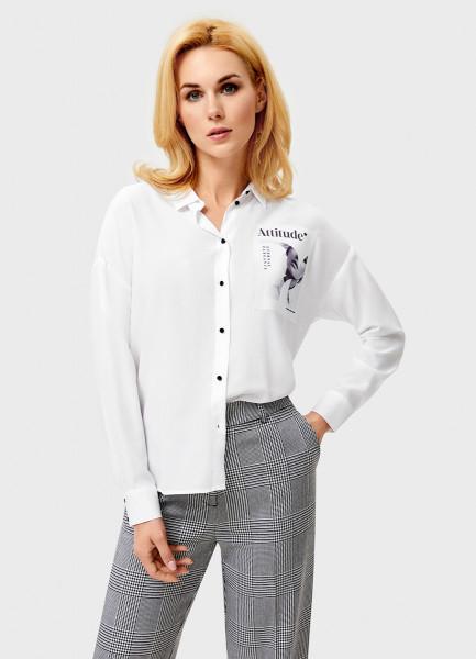 Рубашка с принтованным карманом