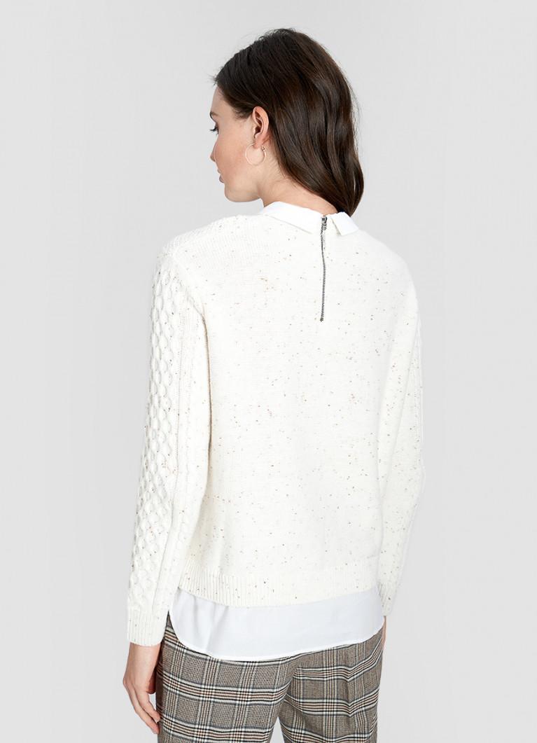 Джемпер c имитацией рубашки