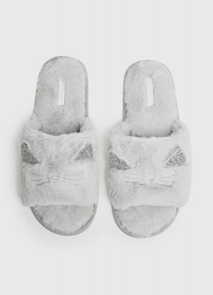 Тапочки с открытыми носами «кошки»