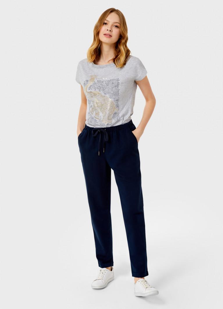 Свободные брюки изо льна