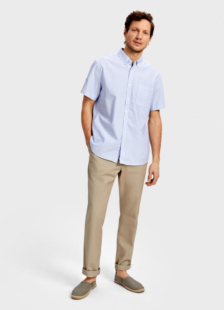 Рубашка в полоску из хлопка