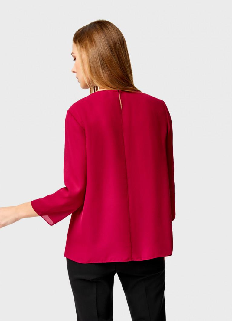 Двухслойная блузка из крепа