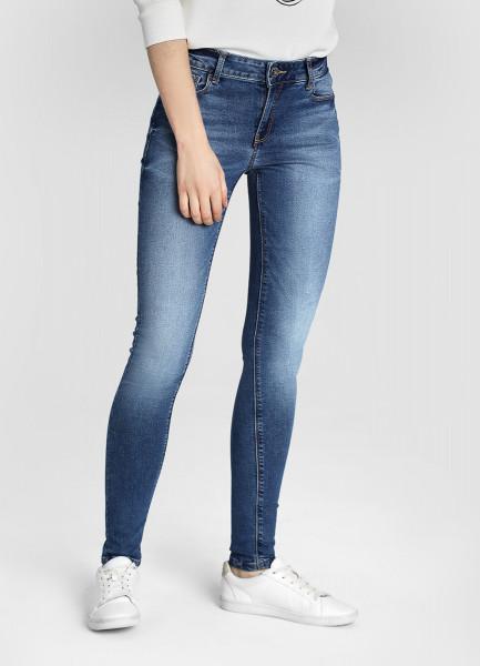 Cиние суперузкие джинсы фото