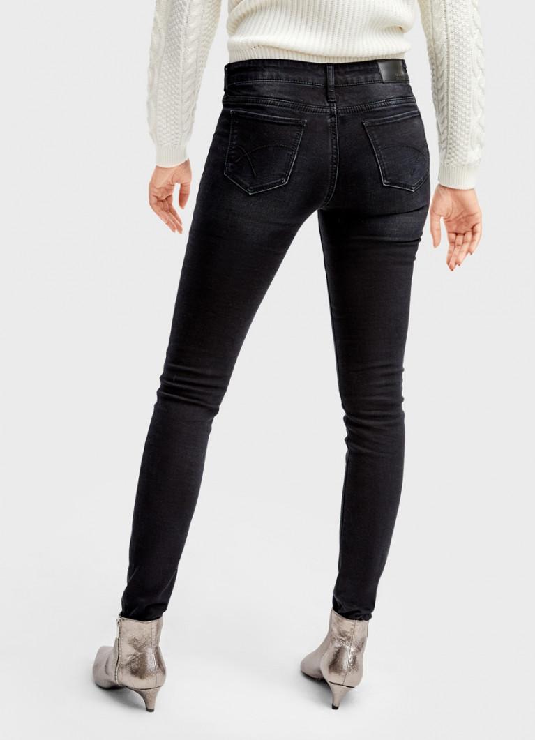 Утеплённые суперузкие джинсы