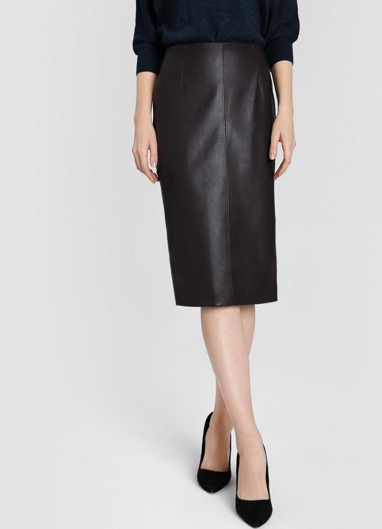 Мини-юбка из блестящей искусственной кожи женщина, белый | TWINSET ... | 1061x767