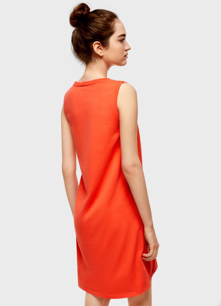Платье-майка с блестящим принтом