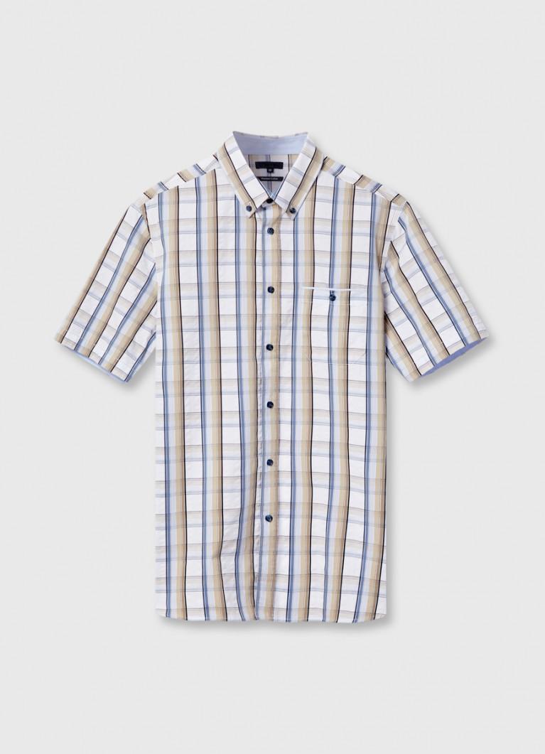 Рубашка в многоцветную клетку