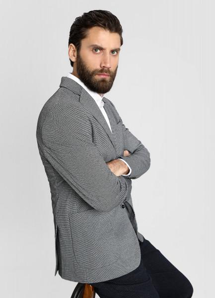 Пиджак из кроёного жаккарда в «лапку» фото